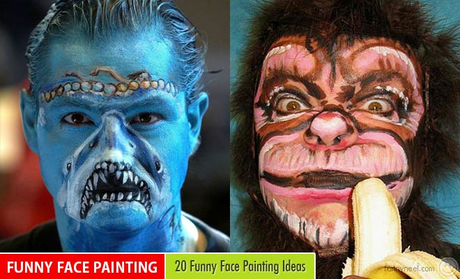 Funny Neel On Twitter 20 Funny Face Painting Ideas For Your Inspiration Https T Co Ygk9c6nxcm Funny Https T Co Peyzj1qtsi