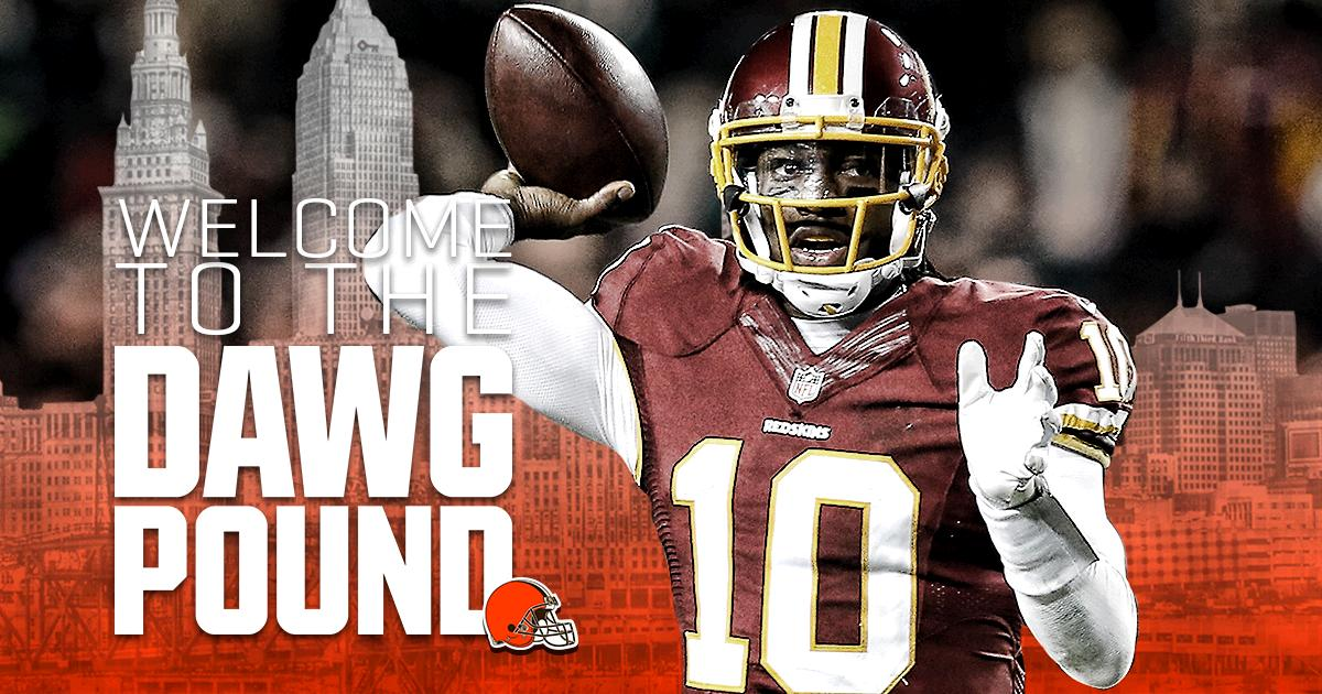 IT'S OFFICIAL.  Welcome to the #DawgPound, Robert Griffin III!