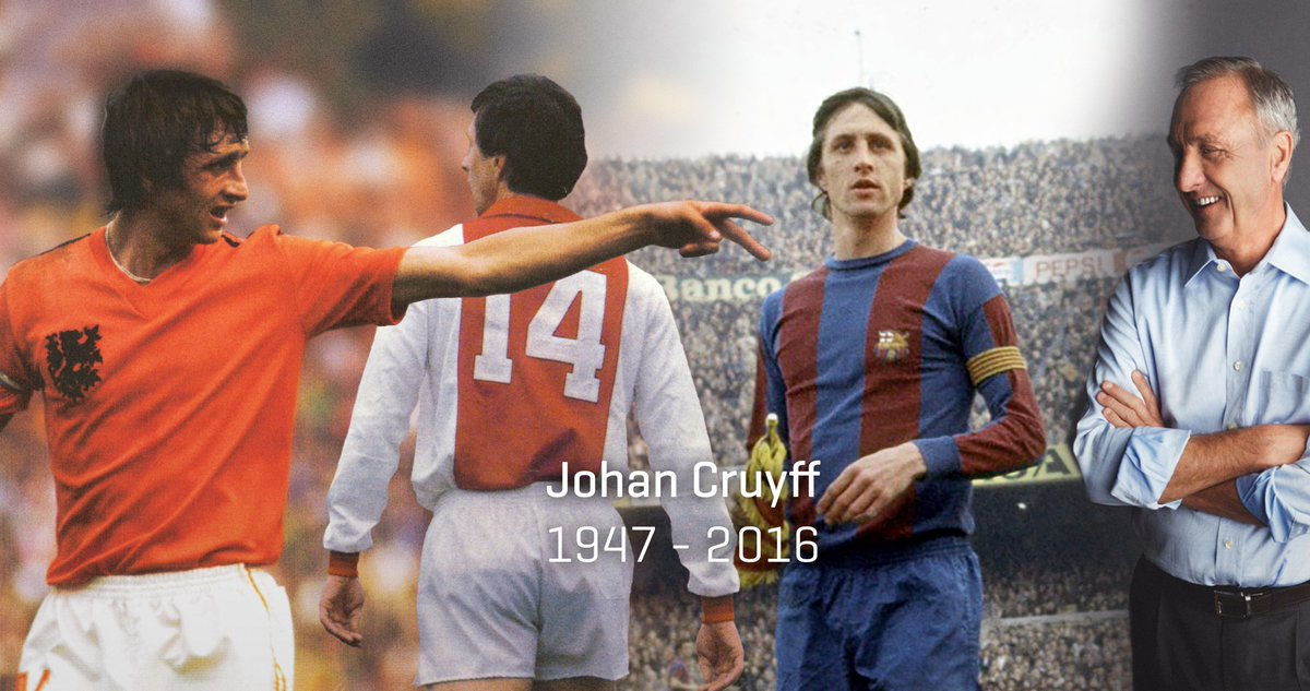 Johan Cruyff 1947-2016 (RIP) More https://t.co/9uzBfG0d9n  Más https://t.co/hkcQ9AxtKc  Meer https://t.co/HCAkImIvJg https://t.co/rsZ6Y1Wsmc