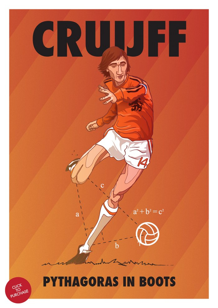 Pythagoras in boots  #Cruyff #rip #football https://t.co/wSTpPMmHIe