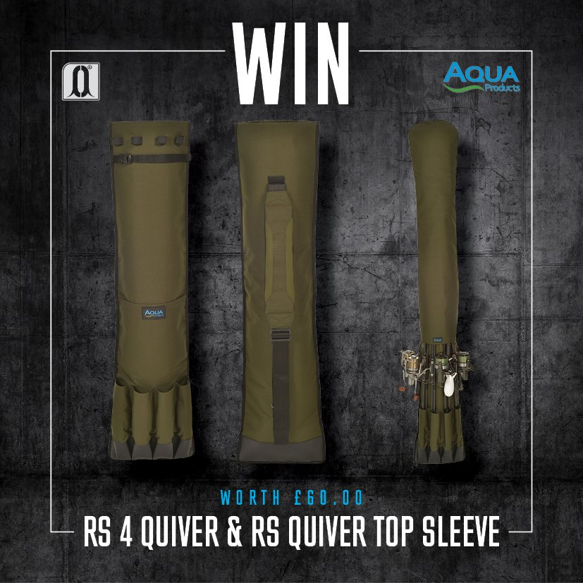 Win an Aqua RS 4 Quiver & Top Sleeve worth £60! Follow @Aqua_Products & RT this post to enter! #CARPology #Win https://t.co/oNLviygwHJ
