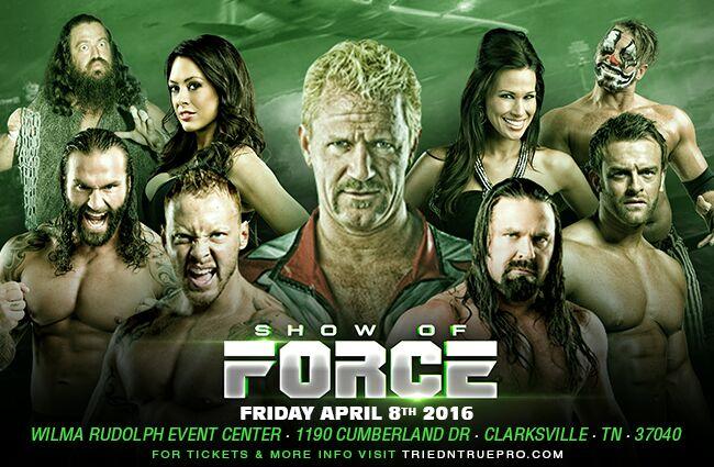 2 weeks away! GFW/TNT Show of Force Clarksville,TN Jeff Jarrett, Storm, Gunner +more Tickets https://t.co/swQmTGi8xe https://t.co/iUjVaSg8ye