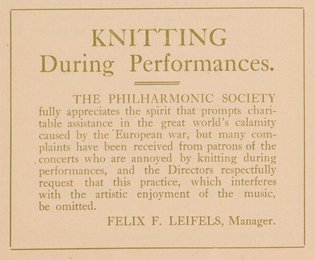 Before there was texting, there was knitting. #TBT from @NYPhil & @NYPhilArchive https://t.co/LcQ5A2T4EY https://t.co/t1XjNuJ9p2