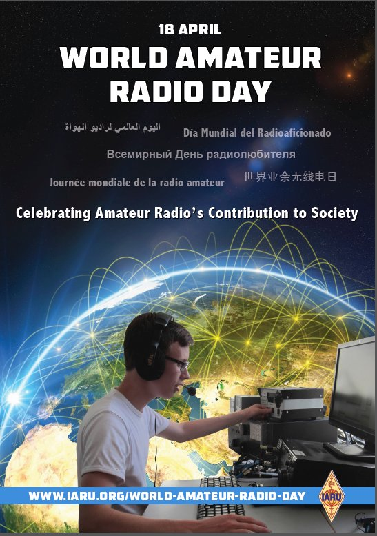 Celebrate World #AmateurRadio Day April 18! #HamRadio ops will be on from around the world! https://t.co/nKfZE7yk9O https://t.co/7fjwcuZ8Cf