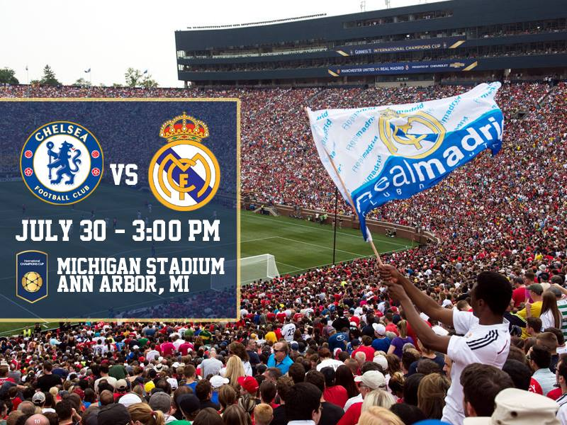 It's official. The #ICC2016 is coming to The Big House. @ChelseaFC vs. @realmadrid https://t.co/XNvOQyipOq