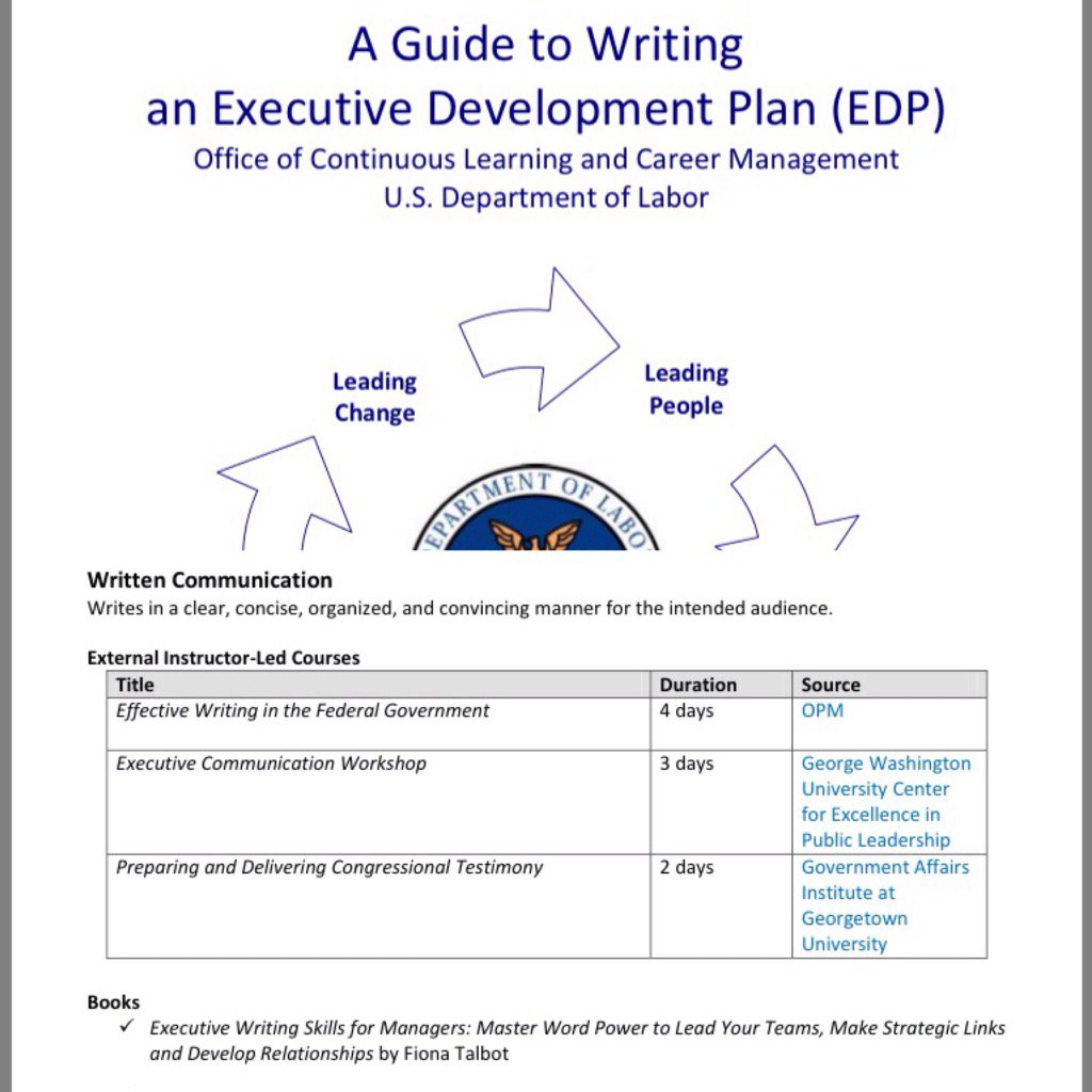 Delighted #US Department of Labor cite my book 'Executive Writing Skills for #Managers' published by @KoganPage https://t.co/OWNbaYbjgs