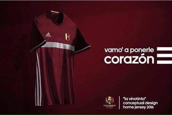 Esta será la nueva indumentaria de Venezuela para la #CopaAmericaCentenario #VamosVinotinto https://t.co/rbdwoKXlfy