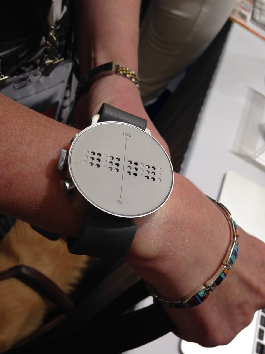 We are checking out the first Braille smart watch! #CSUN16 https://t.co/LAbJL19Lc7