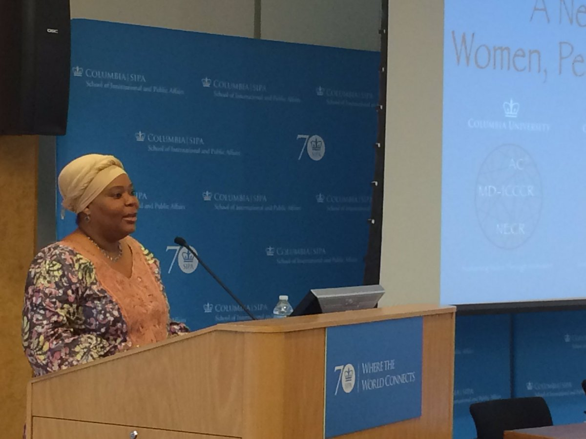 When have we ever won by fighting fire with fire? - @LeymahRGbowee #cupeace @AC4Columbia https://t.co/w7DryCXoia