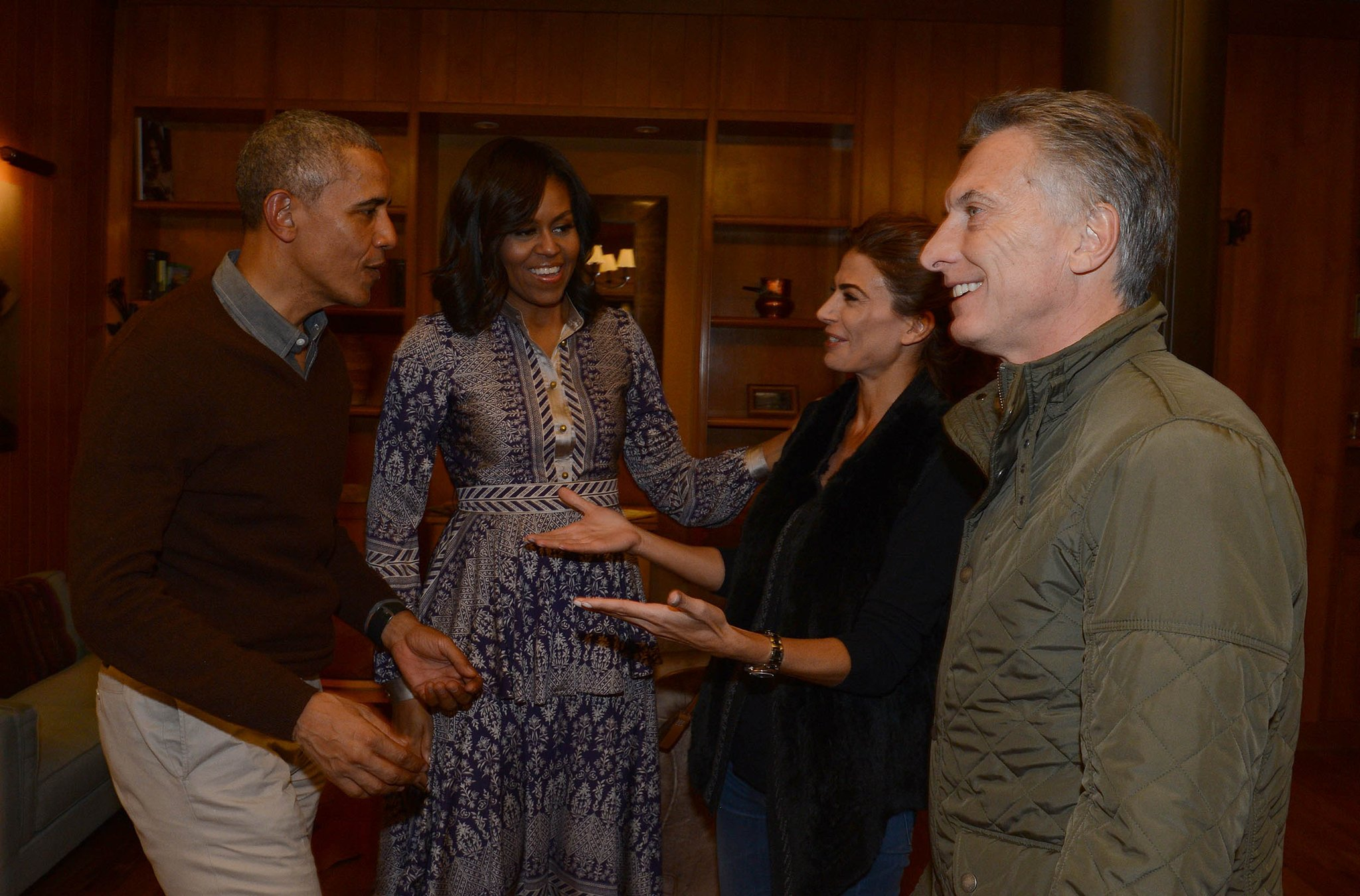 Macri, Obama, Michelle, Aguada