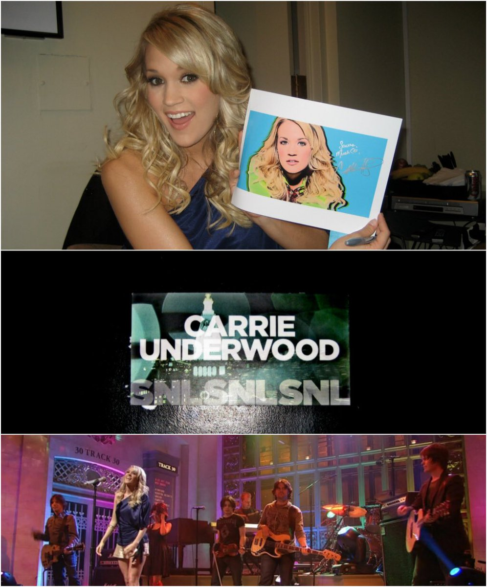 Carrie Underwood  - to March 24, twitter @carrieunderwood tbt