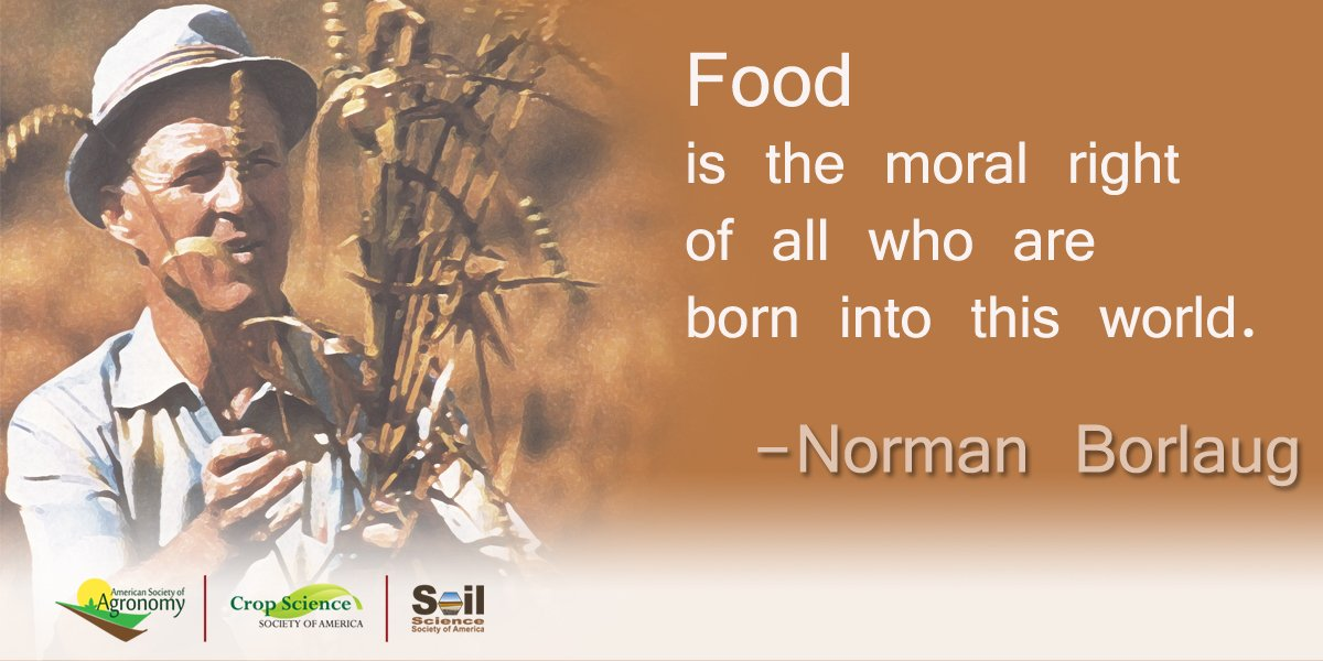 Celebrating Norman #Borlaug bday, March 25. https://t.co/Se7hmpAqMP https://t.co/4J2Kun8G3i