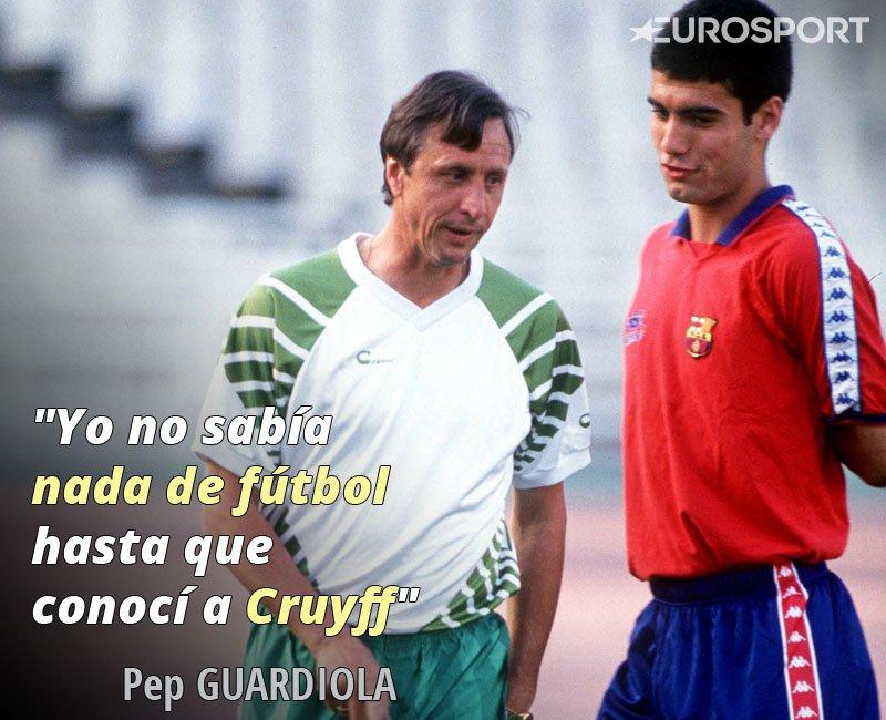Pep Guardiola Johan Cruyff Mira Emotivas Frases Pep