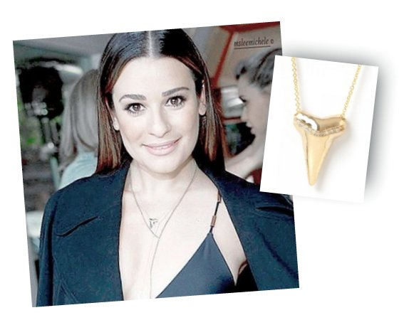 @msLeaMichele in our Sharktooth Necklace at The A List's party last night. Get yours here: https://t.co/ARyS5FbEQY https://t.co/XhPUb5JH8a