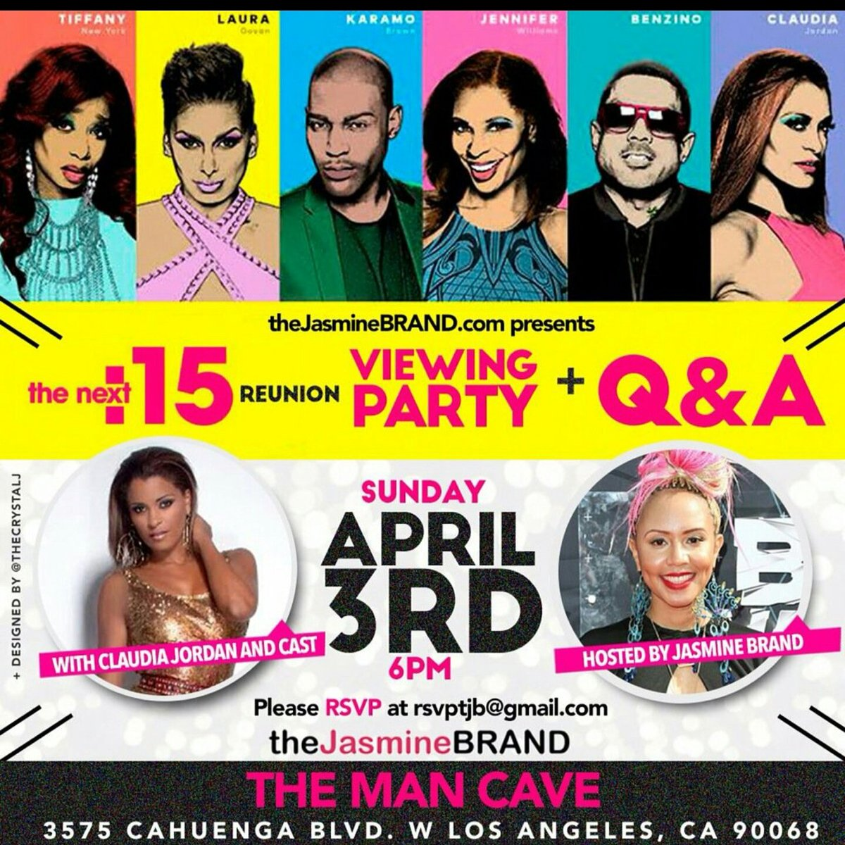 Come out to this on Sun. I HAVE 2b there! THE TEA  IS SERVED!!! 0.@thejasminebrand @claudiajordan https://t.co/1GiLQAaM8a