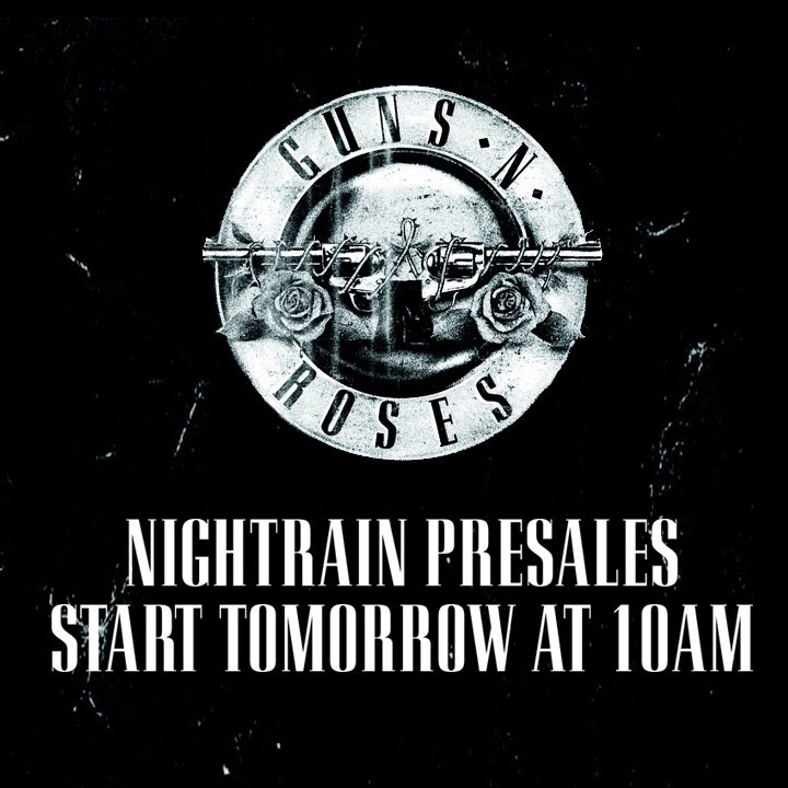32dc867b1 Planning to see #gnfnr? get on the nightrain for fan club exclusives ...