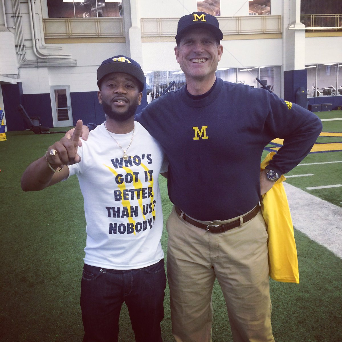 Honored to be taking it up a notch w/ @CoachJim4UM #whosgotitbetterthanus #MichiganWolverines