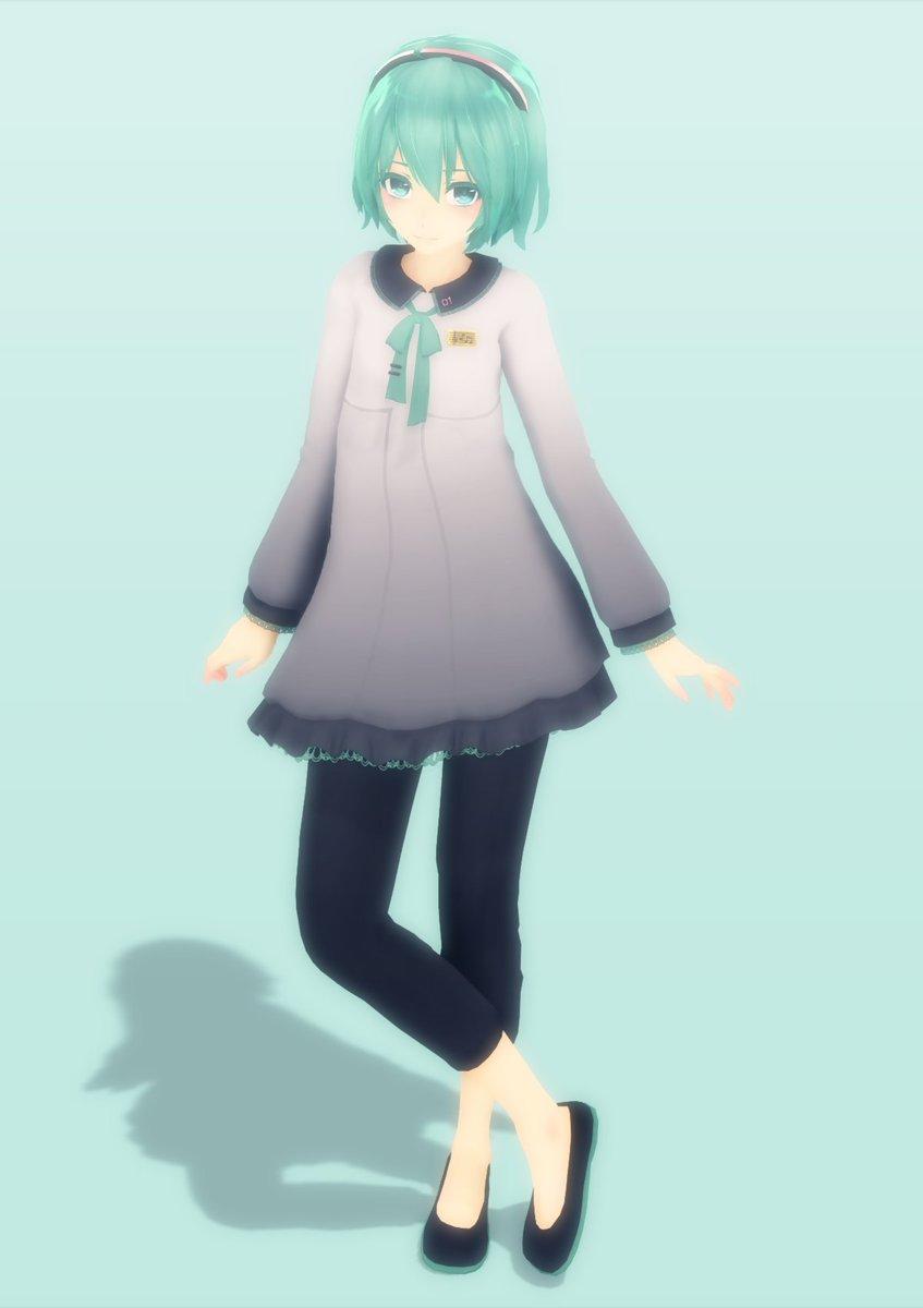 """ぷらるし on Twitter: """"#MMD Miku with short hair is super cute ..."""