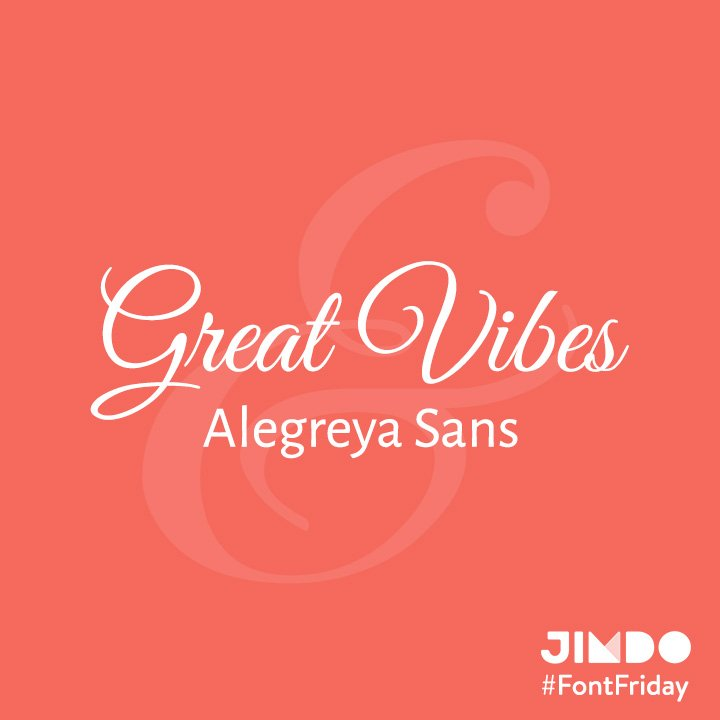 This week's #FontFriday is Great Vibes and Alegreya Sans—two beautiful fonts sure to win over your readers hearts. https://t.co/BFqidQOvKu