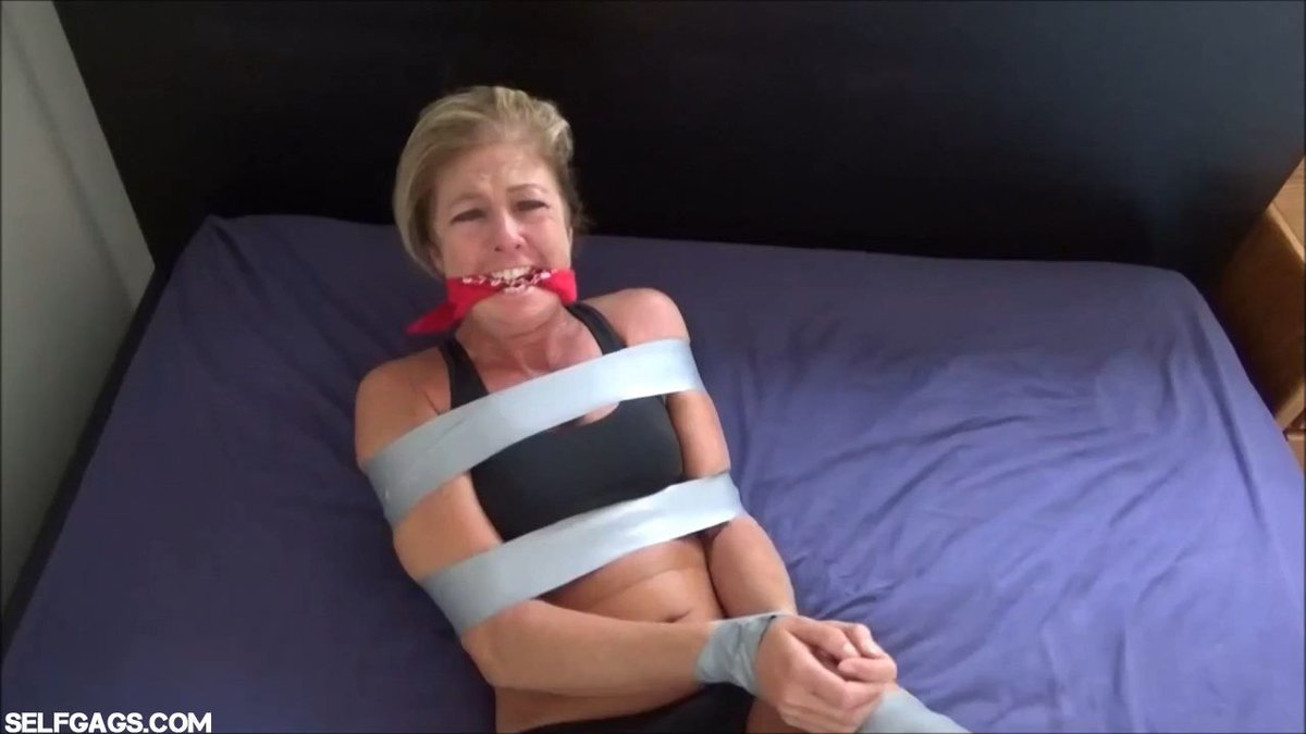 Bound and gagged milf