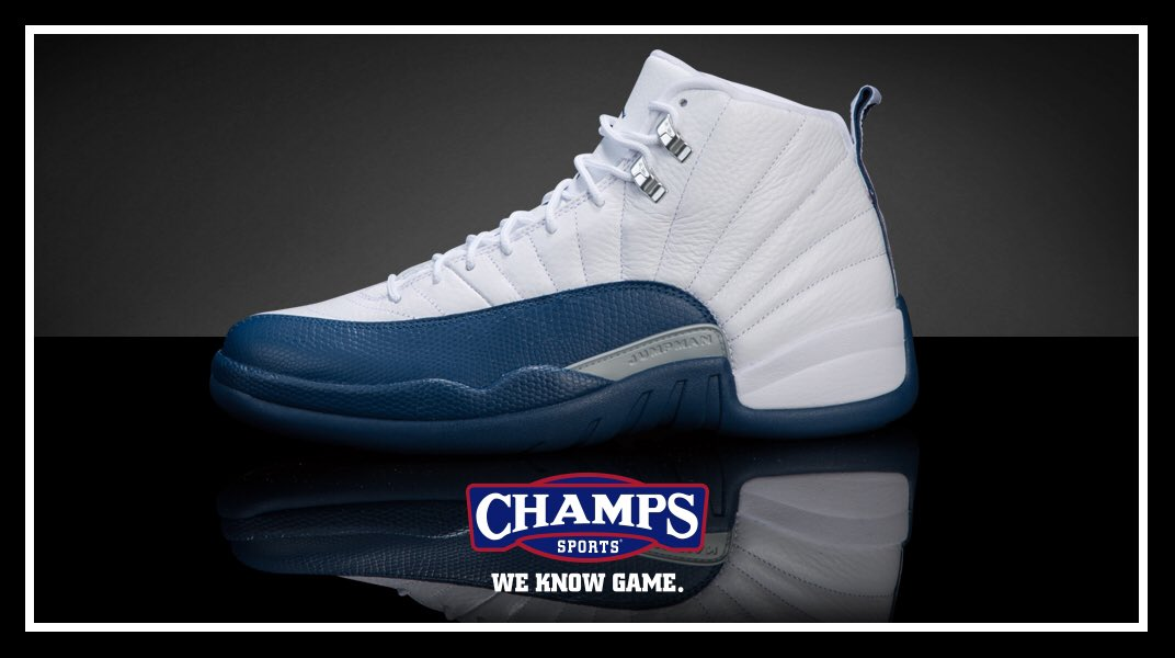 Champs Sports On Twitter Jordan Retro 12 French Blue Drops Tomorrow At 10 Am Et In Men S And Full Family Sizes Https T Co Myej08eu5z