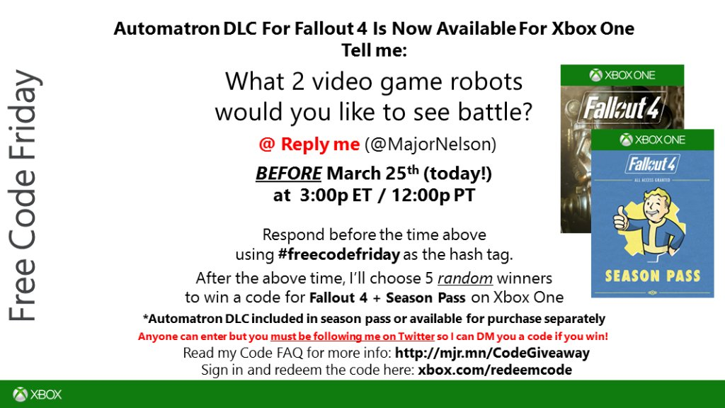 Fallout 4 Dlc Codes Xbox One