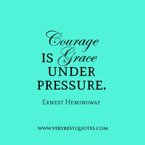#ChangeChat time!  Here's a great quote from Ernest Hemmingway on courage.  Share yours with the hashtag #ChangeChat https://t.co/Zaj8Dl61rw