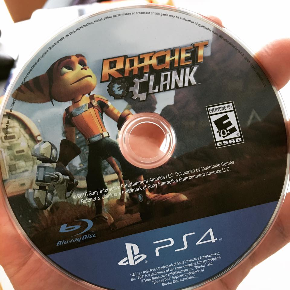 Ratchet & Clank PS4 Goes Gold, See the First Disc Proof Here