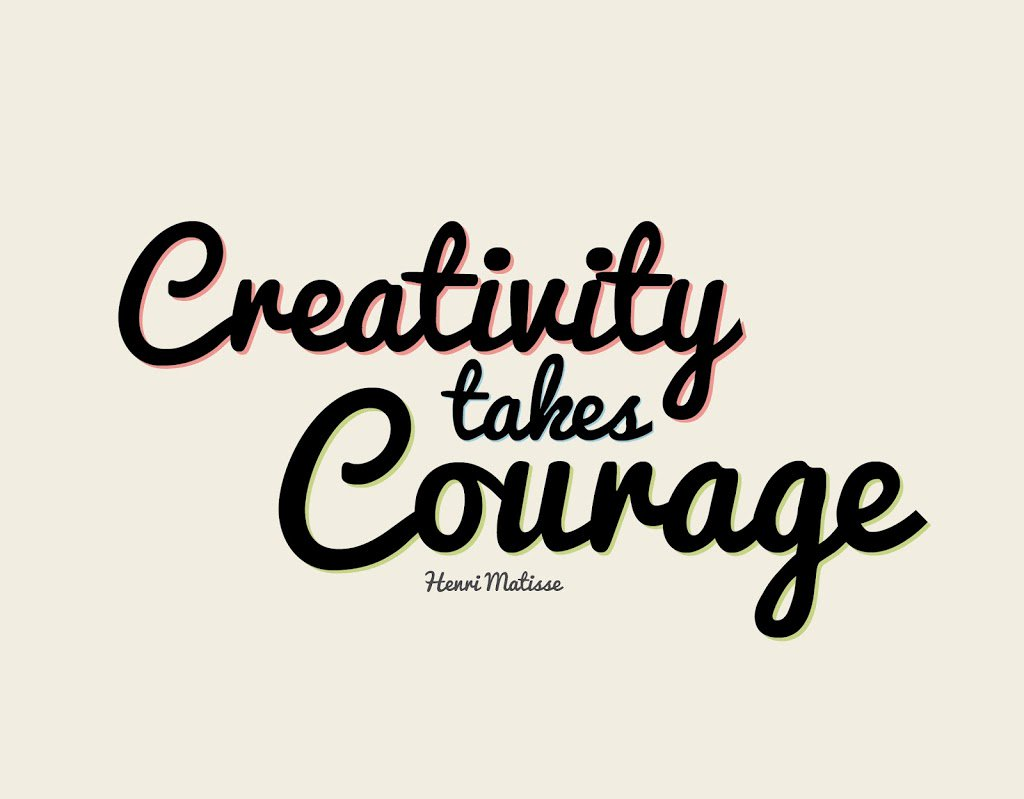 @enclaria #ChangeChat Yes!  Creativity takes courage, new ideas take courage. https://t.co/PegXhd8GNz