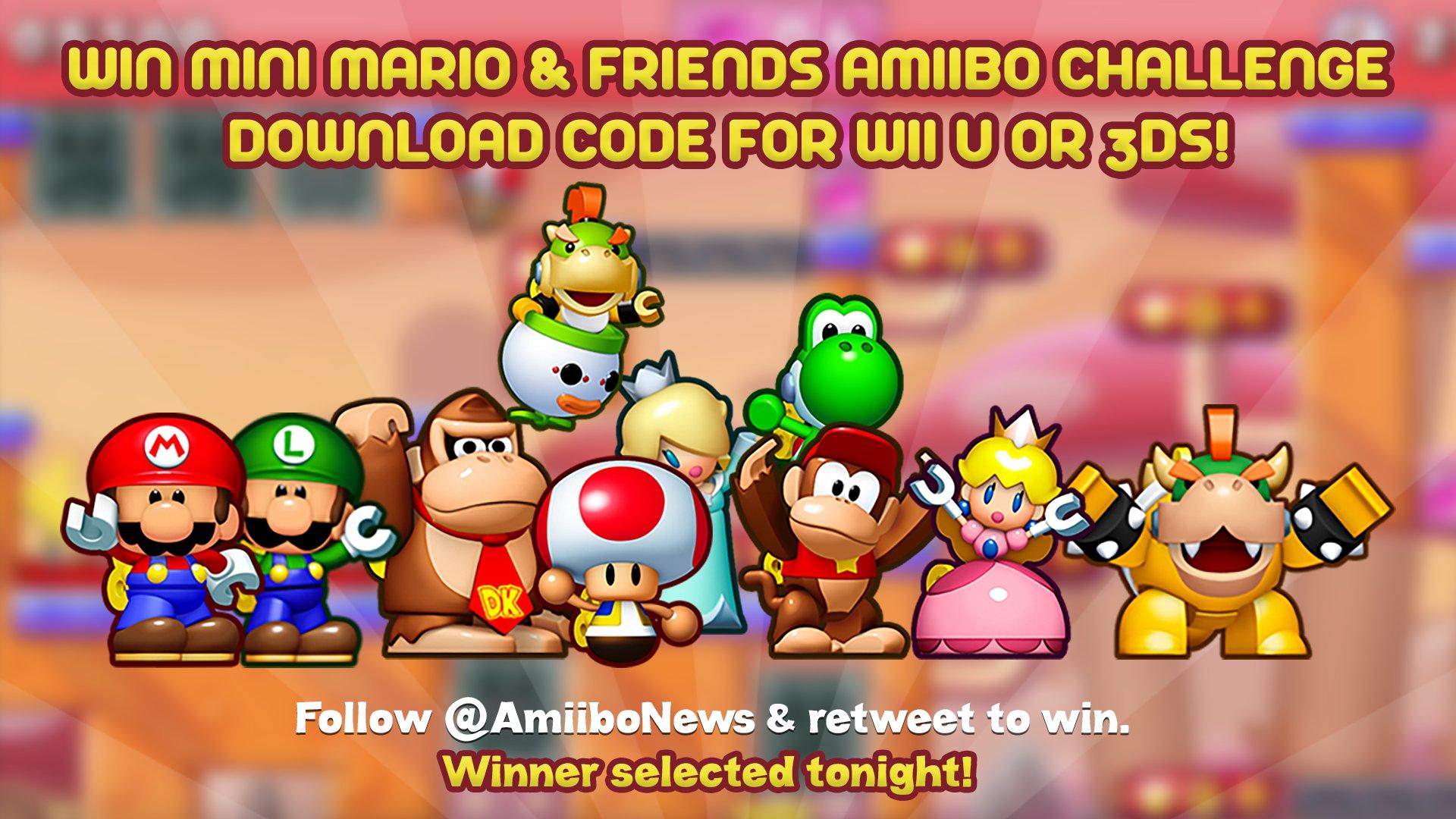 Amiibo News En Twitter Win A Mini Mario Friends Amiibo