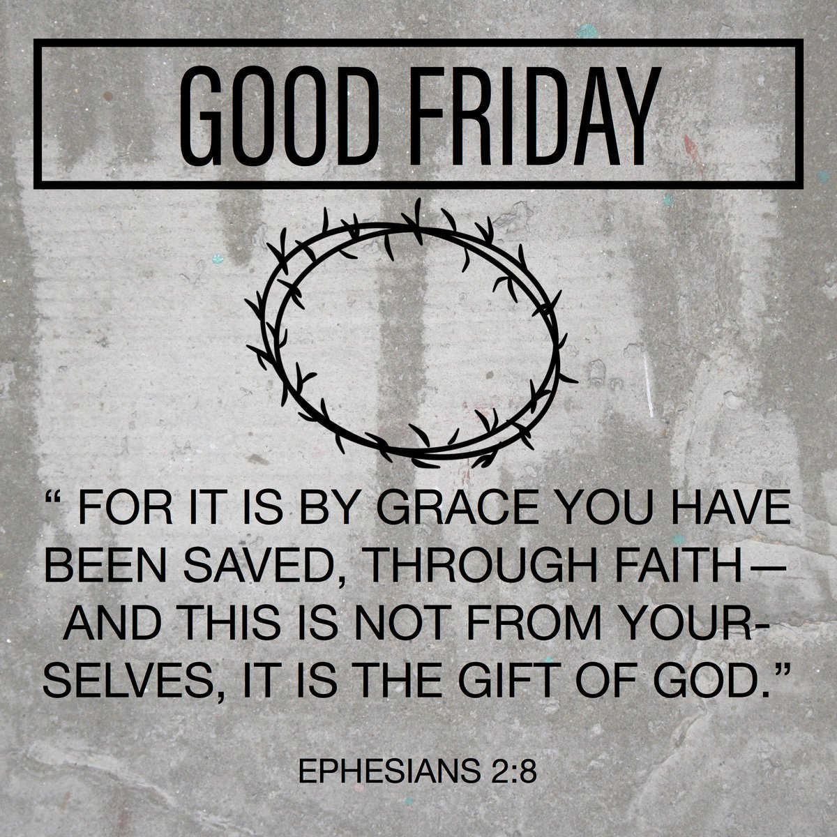 Such an important reminder this time of year, through GRACE we have been saved! #gracewins #GoodFriday https://t.co/fb7FbNpgEg