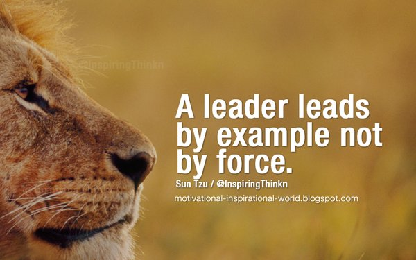 Murray Newlands On Twitter A Leader Leads By Example Not By Force