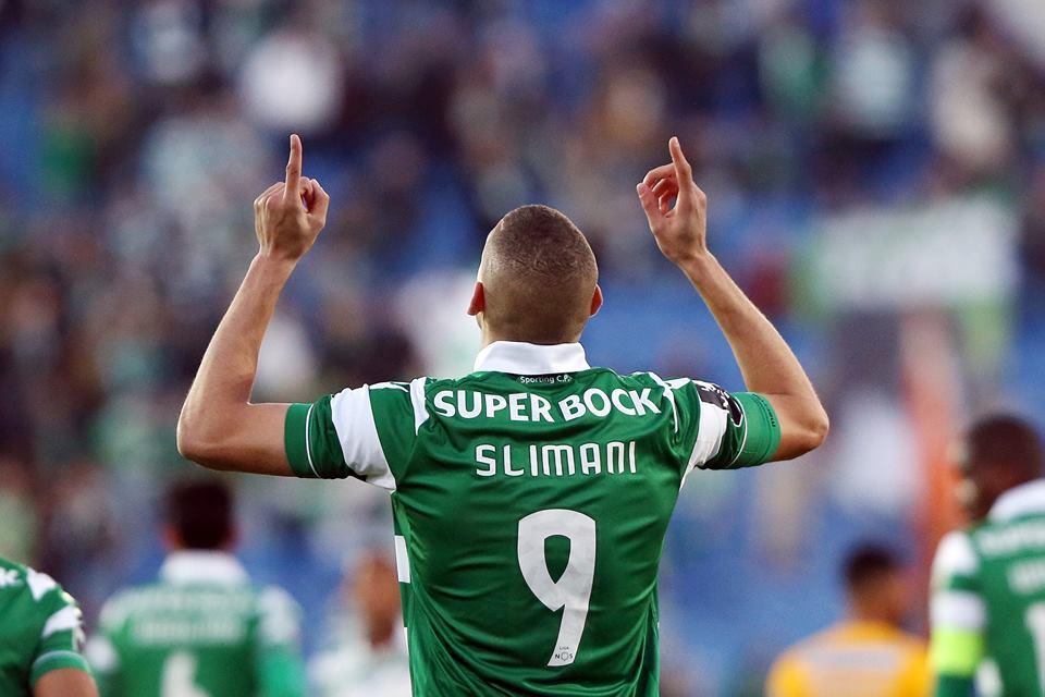 O leão @slimaniislam marcou hoje 2 golos na vitória da Argélia por 7-1 sobre a Etiópia. Parabéns! #TuVaisVencer