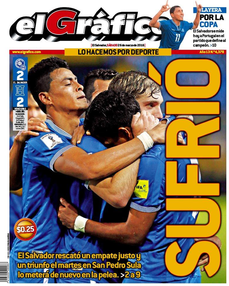 25-3-2016: Eliminatorias Copa Mundo Rusia 2018: El Salvador 2 Honduras 2. Cec-T9VW4AAW4UR