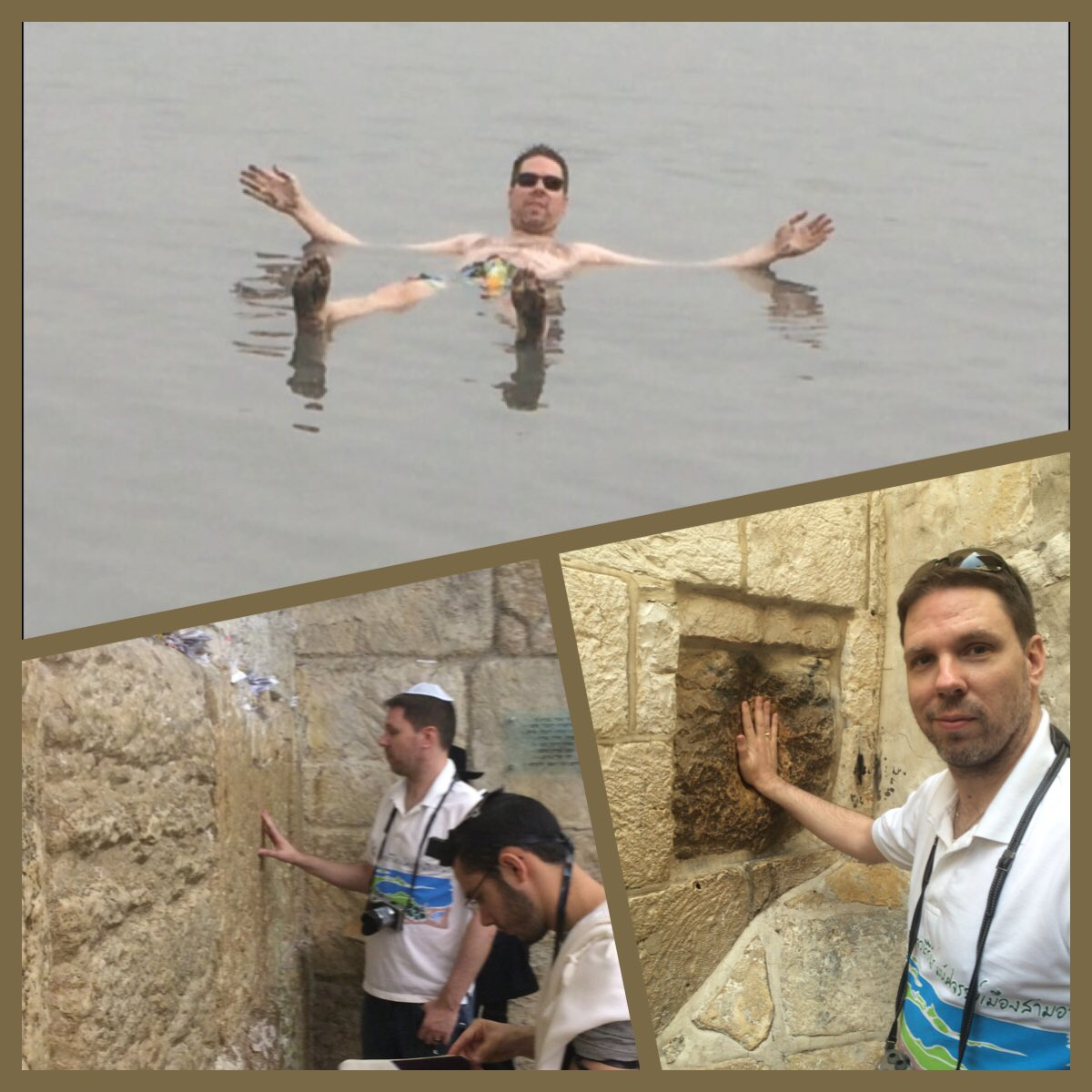 Enjoyed Israel got to  walk in Jesus's foot steps in Jerusalem, float in the Dead Sea and saw the Whaling Wall. https://t.co/u9d3Of2NHT