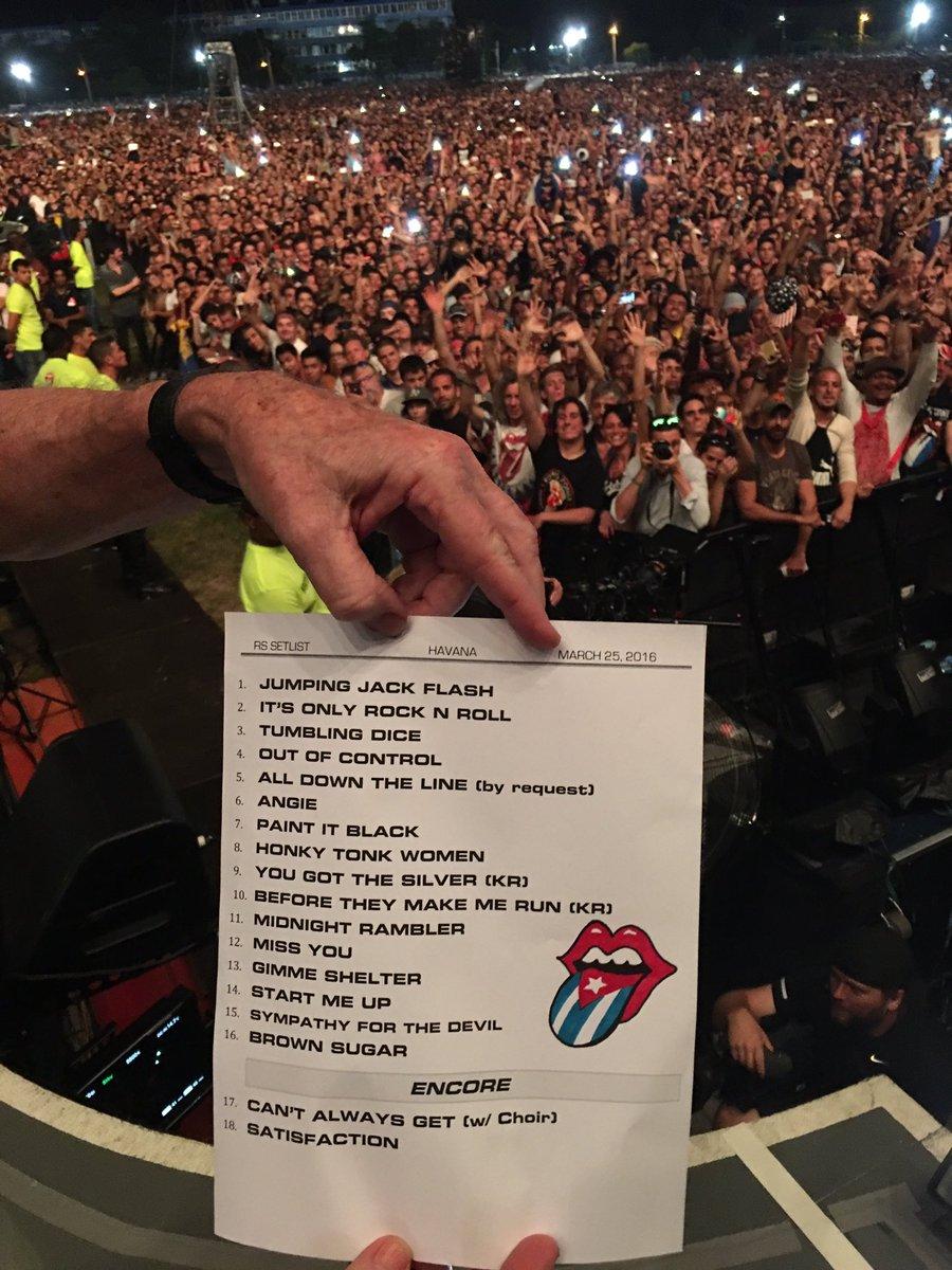 Rolling Stones setlist in Cuba
