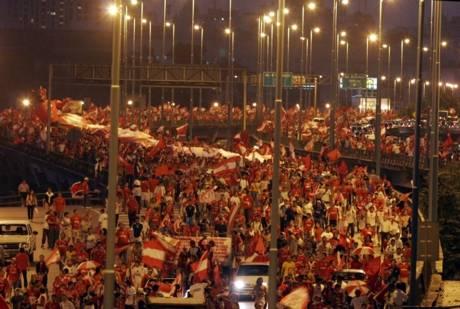 Cien mil personas presentes