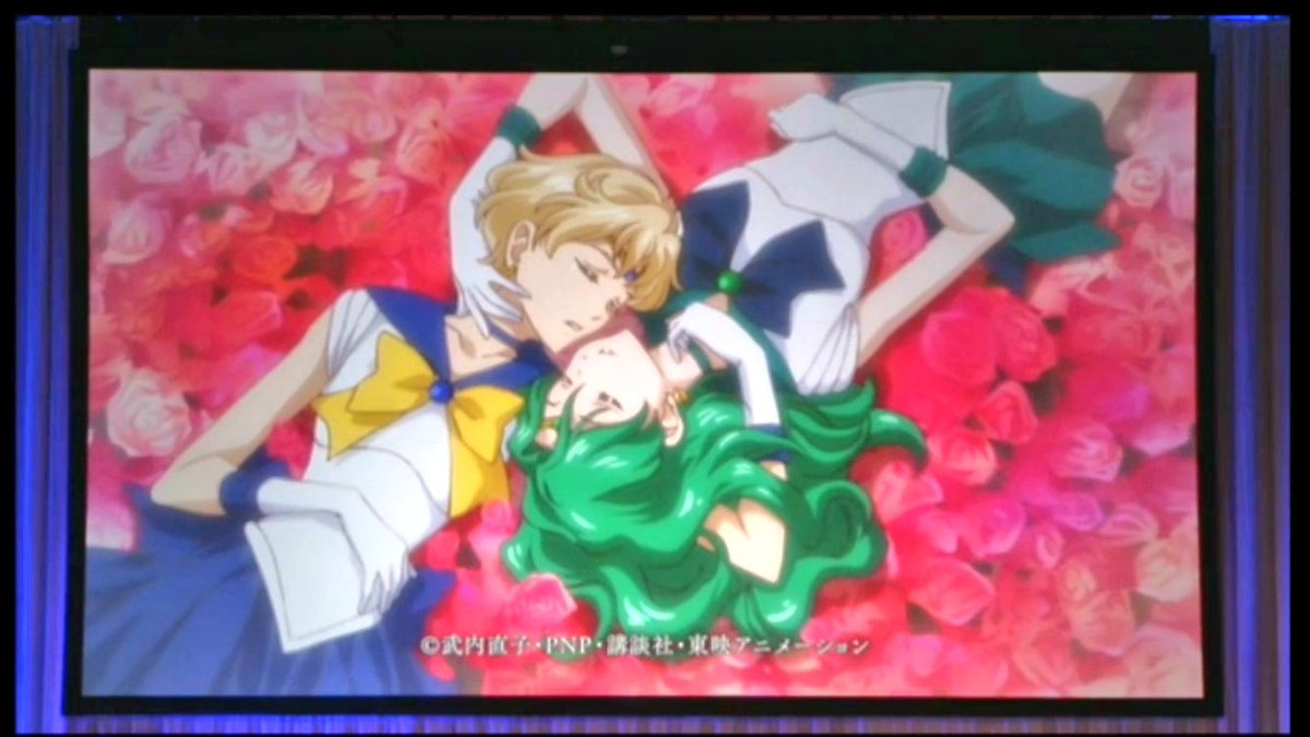 """And they showed the ending song! Lots of """"in your face"""" Uranep KYAHAHAHAHA! #SailorMoonCrystal https://t.co/ragLJ9ipj8"""