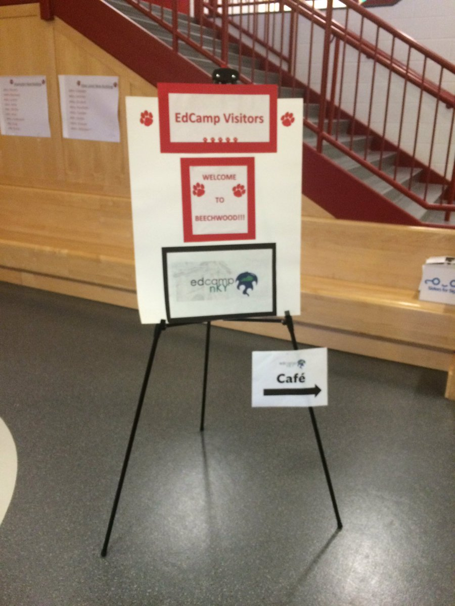 Follow the signs to the cafe! #edcampnky https://t.co/dYCFSd9oB4
