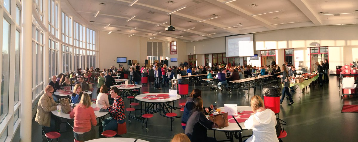 Cool cafeteria and Great crowd! @EdCampNKY #edcampnky https://t.co/m9T03flLvp