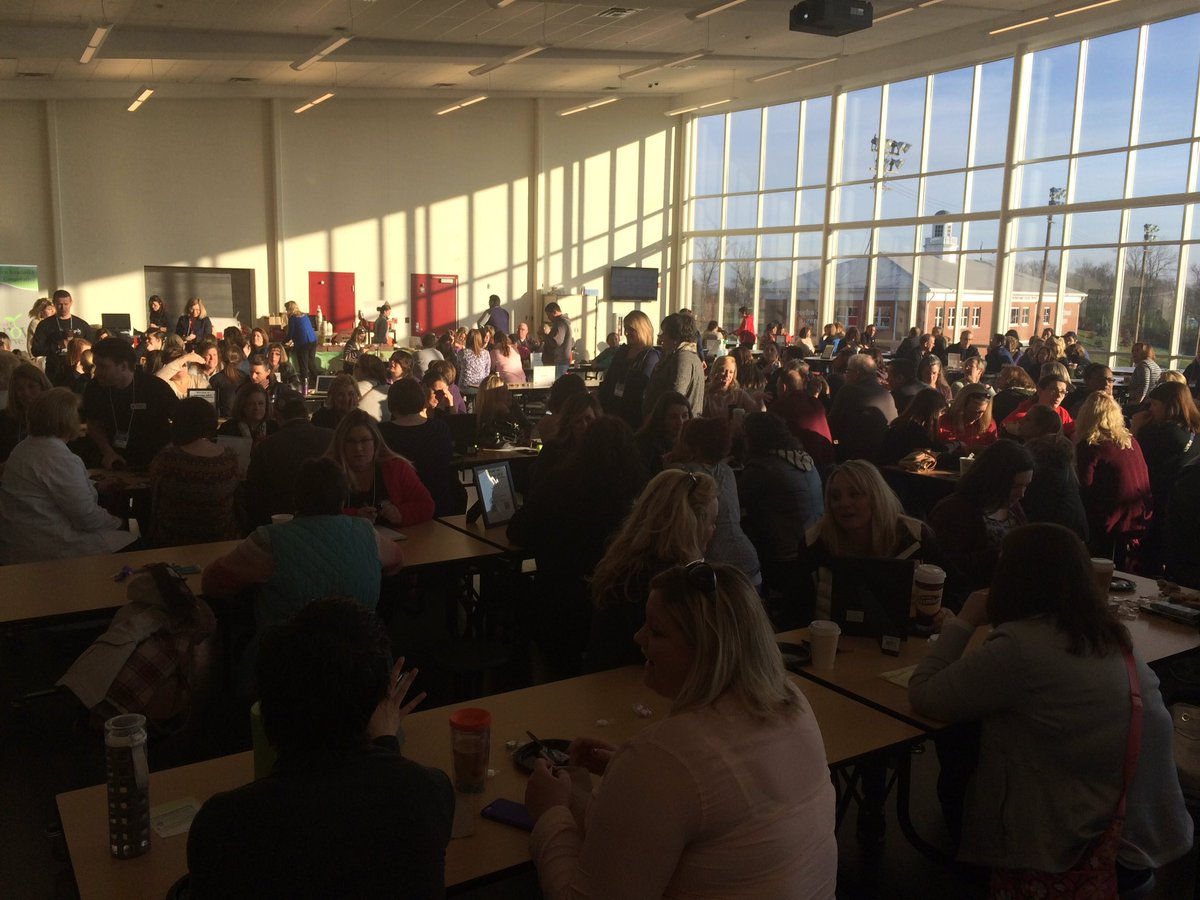 Look at all these people ready to learn and lead #edcampnky https://t.co/aSI2oAFZgj