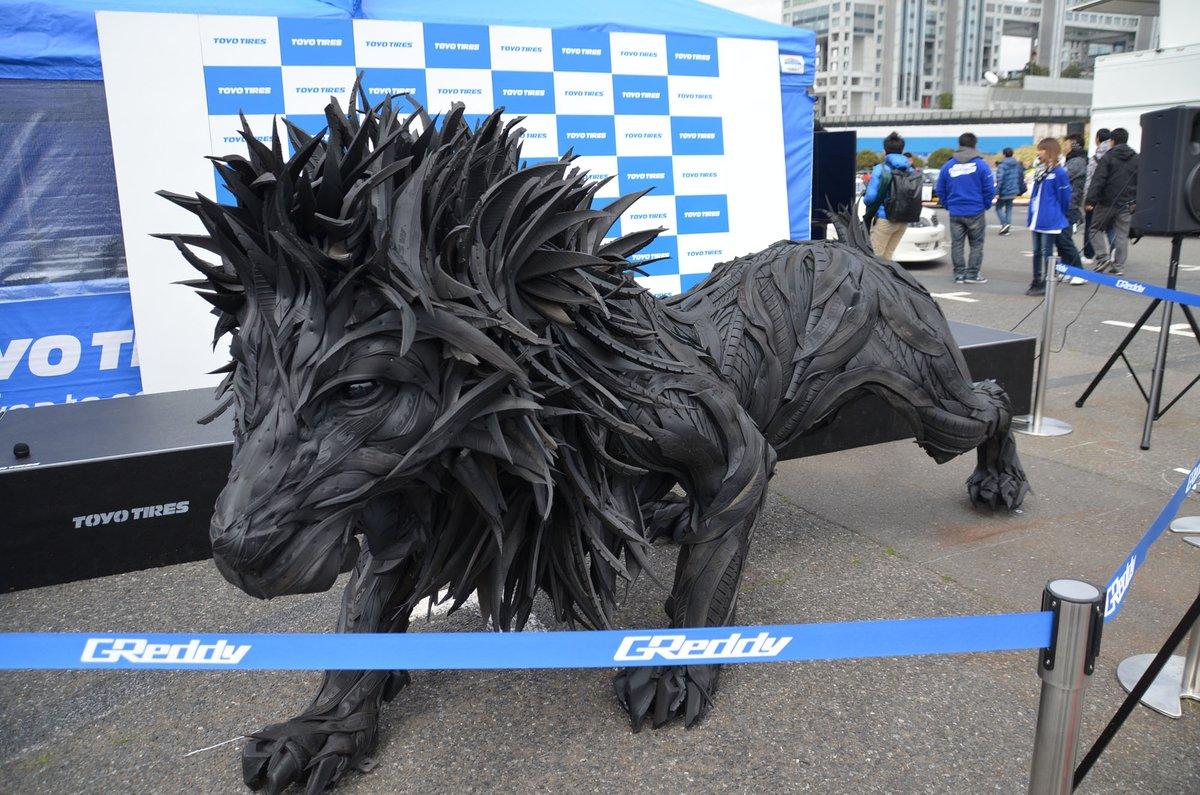タイヤで作ったライオン!廃材利用!(たぶん) pic.twitter.com/F4HkmDipgw