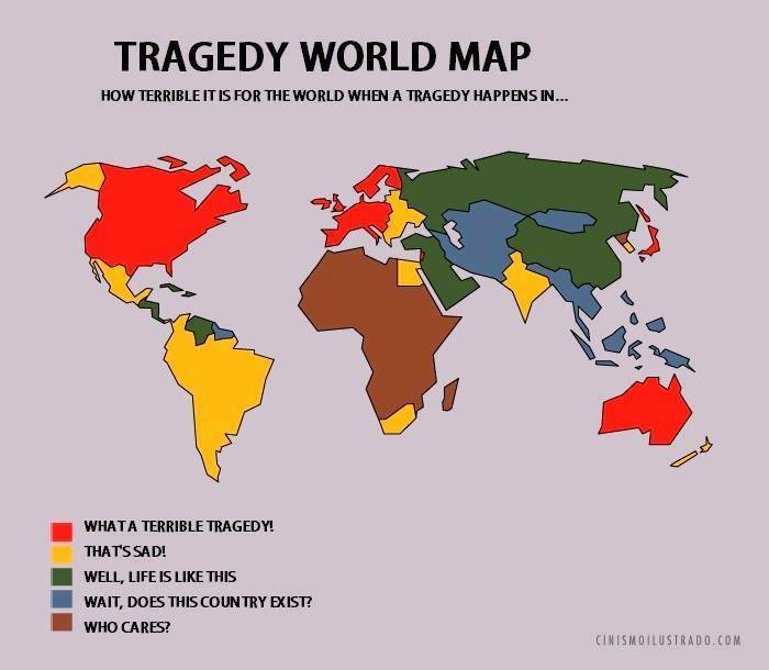 Nicholas danforth on twitter implicit western lens in this map nicholas danforth on twitter implicit western lens in this map title borderline racist dont you mean tragedy world map as seen from america gumiabroncs Image collections