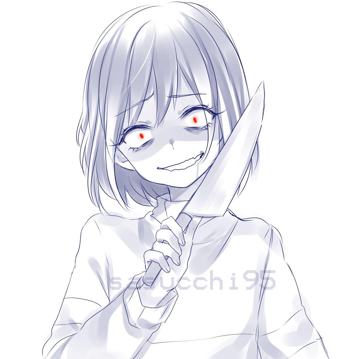 CefPvW1WsAAuV0.jpg (600×597) Yandere anime, Anime poses