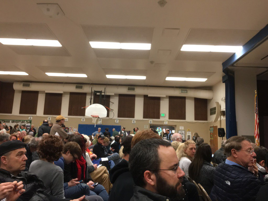 Democratic Caucus. Hello neighbors!! #Imwithher https://t.co/hTDAUywIaQ