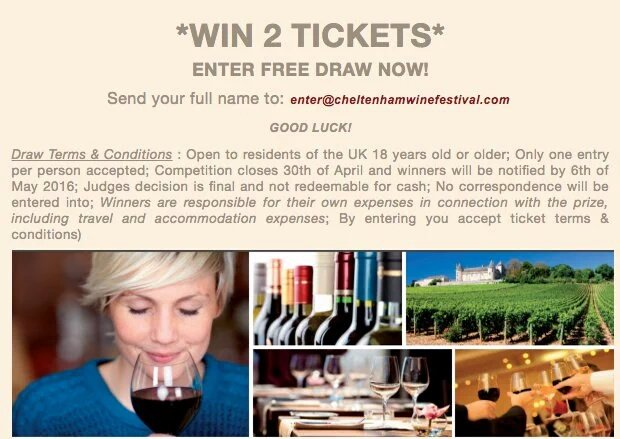@CheltenhamBID You're all invited to enter a FREE draw to WIN 2 TICKETS to our Grand Wine Tasting...GOOD LUCK! https://t.co/6xsY5XCDvZ