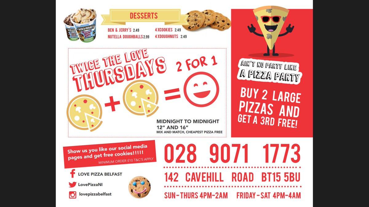 Love Pizza Belfast On Twitter Love Pizza Cavehill Road Now