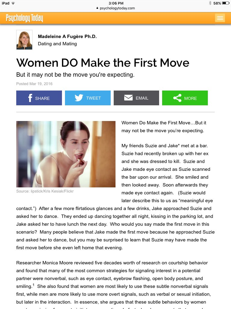 how to make the first move on a dating website