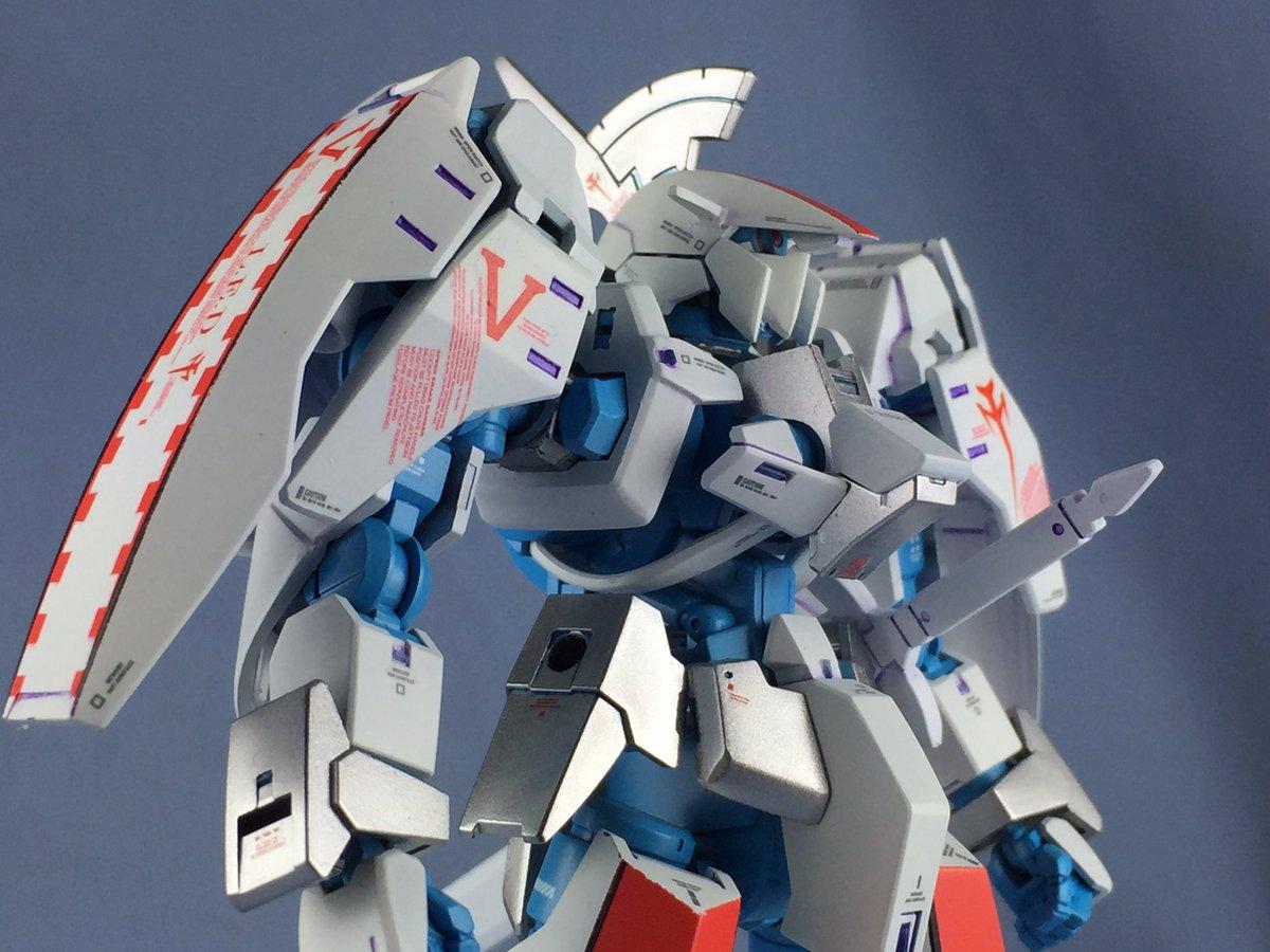 グレイズL.E.D.胸部UP マスク部はプラ板で製作してます。グレイズのまま単眼です。 #鉄血MH #g_tekketsu