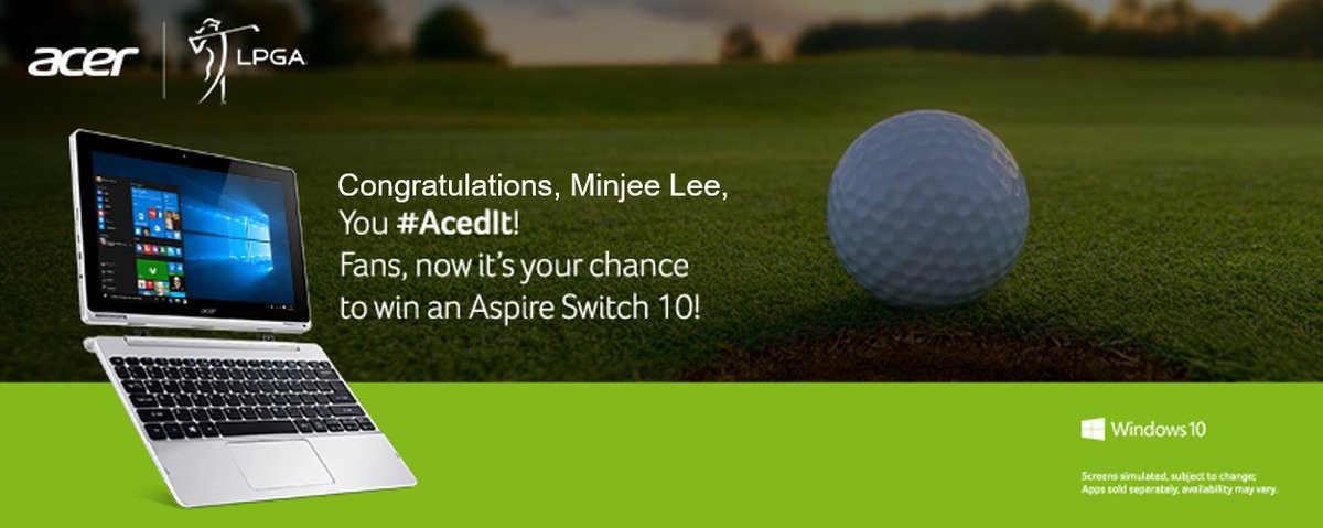 What a shot @minjeegolf of @LPGA! Fans, your turn! Reply #AcedIt for a chance to #win! T&C: https://t.co/uPWKai2gtS https://t.co/qPl6zfirDL